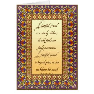 2. The Bible's description of a good friend Card