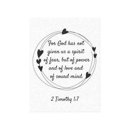 Power Love and Self-Control 2 Timothy 1:7 Scripture Framed Wood Sign Home Decor