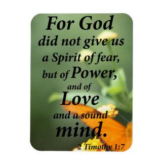 2 Timothy 1:7 Rectangular Photo Magnet