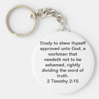 2 Timothy 2:15 Keychain
