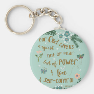 2 Timothy 5:7 Scripture art hand lettered Keychain
