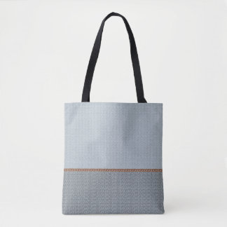 2 tone blue gray tote bag