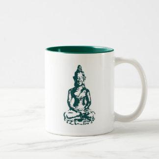 2-Tone Green 11oz Mug