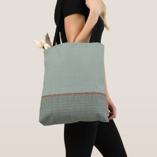 2 tone green gray tote bag