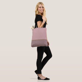 2 tone peach gray tote bag