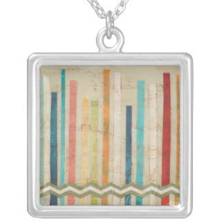 2-Up Paper Fences IV Silver Plated Necklace
