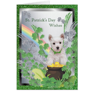 2. Westie Puppy Number One Health Luck Happiness Card