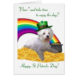 2. Westie St Patricks Card