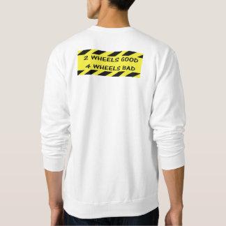 """2 wheels good"" cycling sweat shirts for men"