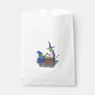 2 Witches brewing up potion in Cauldron Halloween Favour Bag