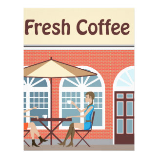 2 Women drinking coffee at a cafe outside Letterhead Design