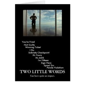 2 words card