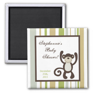 "2""x2"" Party Favor Magnet Monkey Time Zoo Animal"