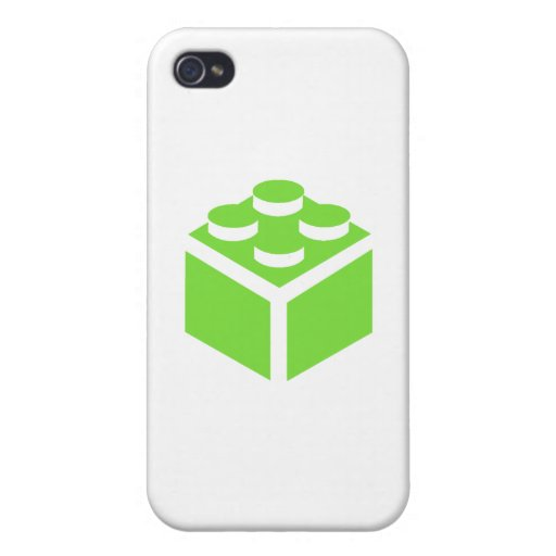 2 x 2 Brick by Customise My Minifig iPhone 4 Covers