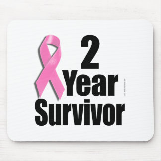 2 Year Breast Cancer Survivor Mouse Pad