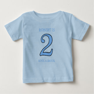 2 Year Old Boy Birthday Too Cool for School Shirt