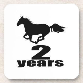 2 Years Birthday Designs Coaster
