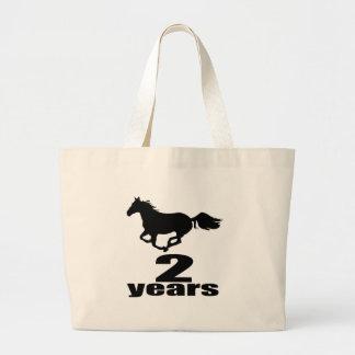2 Years Birthday Designs Large Tote Bag