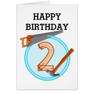 2 years old Second Birthday Party Card