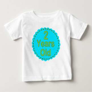 2 Years Old Teal & Lime Baby Outfit Baby T-Shirt