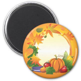 2ai, fall, harvest, wreath, colourful, vegetables, magnet