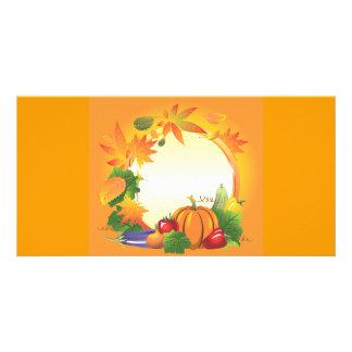 2ai, fall, harvest, wreath, colourful, vegetables, photo card