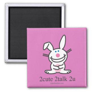 2cute 2talk 2u square magnet