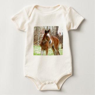 2CUTE HORSE FOAL BABY PONY BABY BODYSUIT