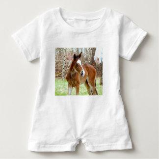 2CUTE HORSE FOAL BABY PONY BABY ROMPER