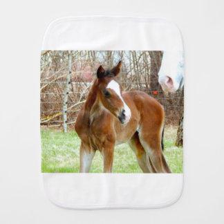 2CUTE HORSE FOAL BABY PONY BURP CLOTH