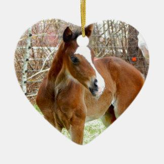 2CUTE HORSE FOAL BABY PONY CERAMIC ORNAMENT
