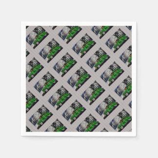2CV DANS LA FORÊT - Artwork Jean Louis Glineur Paper Napkins