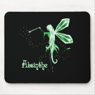 2D Absinthe Green Fairy Sketch Mouse Pad