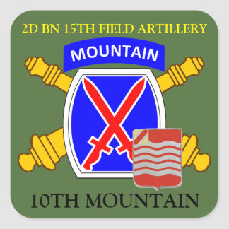 2D BN 15TH FIELD ARTILLERY 10TH MOUNTAIN STICKERS