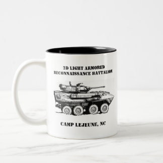 2D Light Armored Reconaissance Battalion Two-Tone Coffee Mug