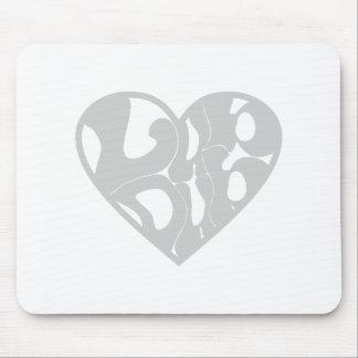 2D Lub Dub (Gray) Mouse Pad