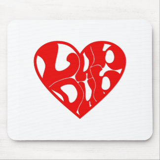 2D LubDub Echo Red Mouse Pad