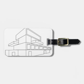 2D perspective drawing of a house Luggage Tag