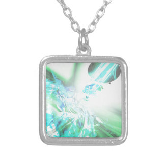 2dsqrLst3 Silver Plated Necklace