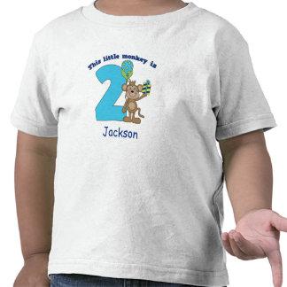 2ème anniversaire de petits enfants de singe perso t-shirt
