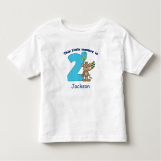 2ème anniversaire de petits enfants de singe tshirts