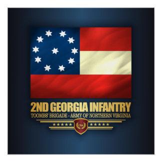2ème Infanterie de la Géorgie Perfect Poster