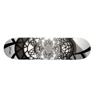 2Free Polar Triangles Custom Skate Board