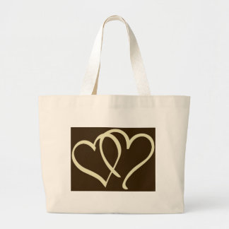 2hearts-Ivory Large Tote Bag