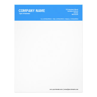 2in Color Header - Blue 3399FF Letterhead