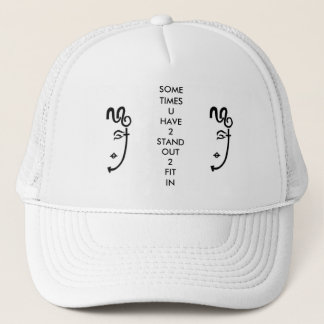 2LOGO & SLOGAN TRUCKER HAT