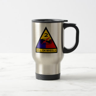 2nd AD Class A Shoulder Patch 15 Oz Stainless Steel Travel Mug
