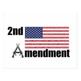 2nd Amendment AR Rifles A and Flag Postcard