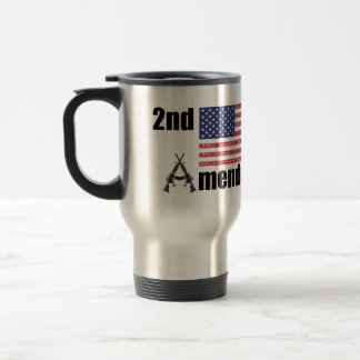 2nd Amendment AR Rifles A and Flag Travel Mug