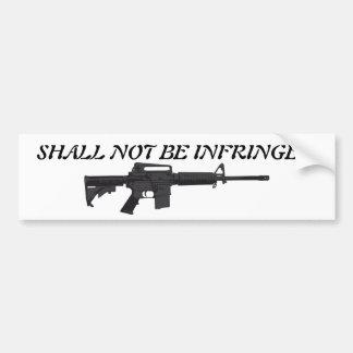 2nd Amendment Bumper Sticker - AR-15
